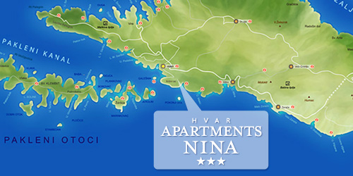 apartments nina hvar location